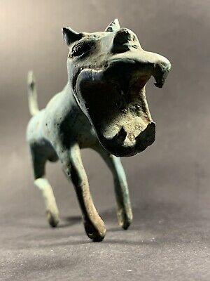 Stunning Example Ancient Luristan Bronze Zoomorphic Statuette Circa 1200-800Bce
