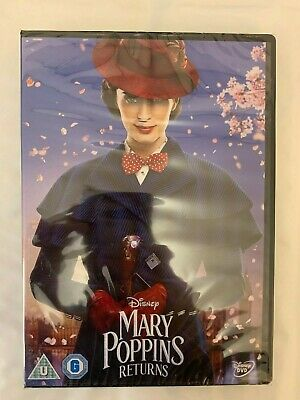 Mary Poppins Returns Dvd 219 New And Sealed Region 2 Free Uk P&P