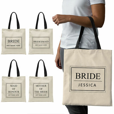 Personalised Bridal Party Tote Bag Wedding Hen Bride To Be Bridemaid Gift HP1
