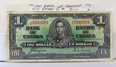 1937 Bank Of Canada One Dollar Bill - Sn9346281