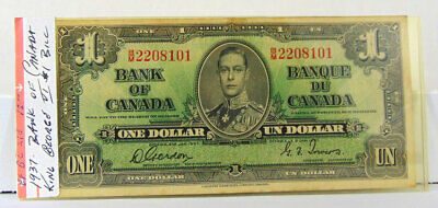 1937 Bank Of Canada One Dollar Bill - Bm2208101