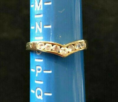 Vintage 9ct gold ring set with Cubic Zirconias - eternity style ring, late 60's