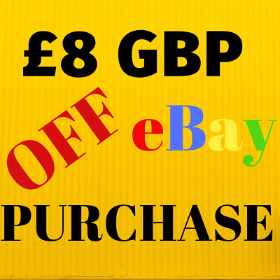 £8 GBP DISCOUNT ON ANY EBAY PURCHASE perfume edt edp handbag clutch voucher gift