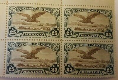 mexico stamps  1922 sg58 MNH BLOCK 4 , 25C