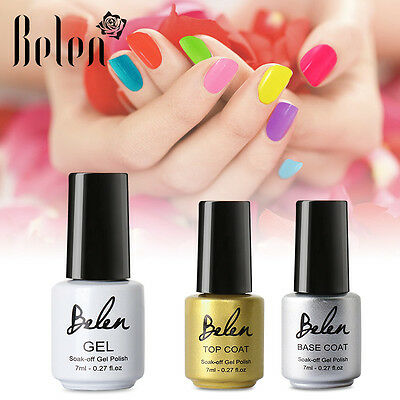 Belen Esmalte Semipermanente de Uñas en Gel UV LED Manicura 7ml Top y Coat Base