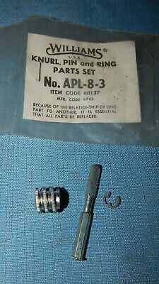 WILLIAMS TOOLS  ADJUSTABLE WRENCH PARTS Knurl, Pin & Ring Set N0. APL-8-3