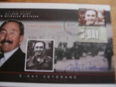 `Gambia D Day Signed Fdc Cover.jim Wallwork..