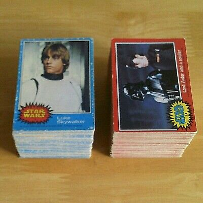 Topps STAR WARS Trading Cards 1977 - Blue & Red Series - Pick 5 from my list.