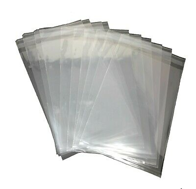 100 Pcs 6x9 Clear Self Adhesive Resealable Cello Cellophane Poly OPP Bags