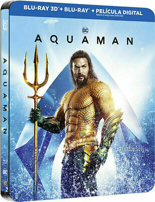 Aquaman - Limited Edition Steelbook [Blu-ray+ 3D+ DVD] NEW And Sealed!!!