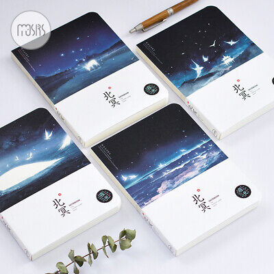Luminous Blank Paper Notebook Notepad Hard Cover Journal Diary Sketchbook Book