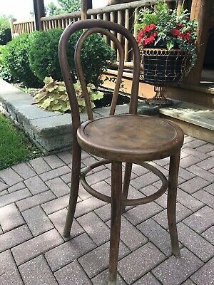 Antique Vintage Bentwood Stool Chair