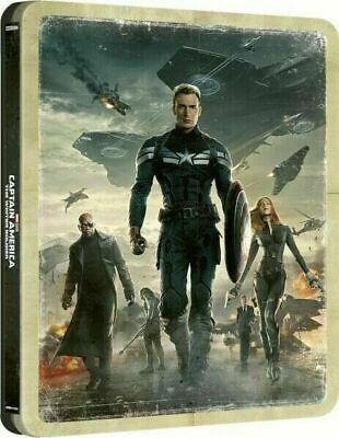 Captain America:The Winter Soldier - Limited Ed. Steelbook [4K+ Blu-ray] NEW!!