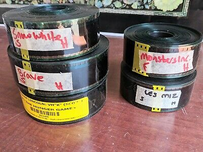 Lot of Movie Film 35mm Trailers Previews flat scope hollywood Hunger Games Brave