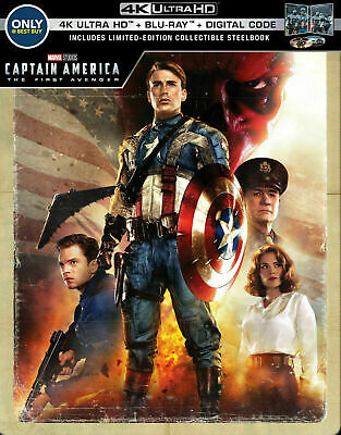 Captain America: The First Avenger - Limited Ed. Steelbook [4K+ Blu-ray] NEW!!
