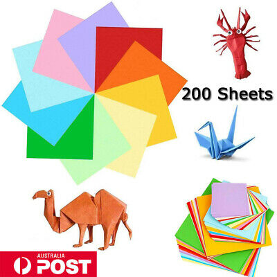 NEW 200/400 Sheets Origami Square Paper Craft Folding 15x15cm Double Sided AU