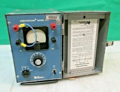 Associated Research Vibroground  293A Earth Resistance Tester 0-1 to 10,000 ohms
