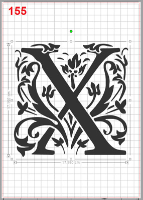 Beautiful Alphabet Letter X Stencil MYLAR A4 sheet strong resuable Craft ArtDeco