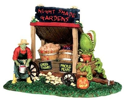 New Lemax Spooky Town Night Shade Garden Cart 53201, Halloween Fly Trap