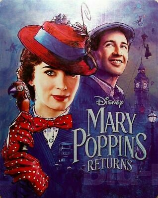Mary Poppins Returns - Limited Edition Steelbook [4K+ Blu-ray] NEW And Sealed!!