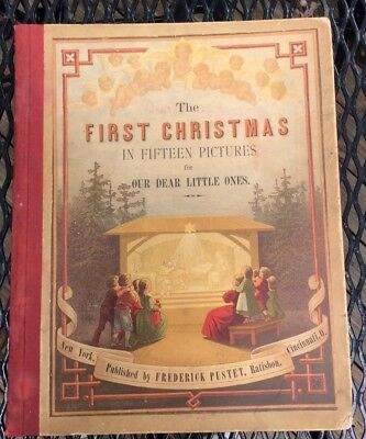 First Christmas Antique Germany Illustrated Book 1800s Rosa Mulholland Pustet