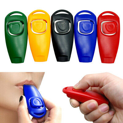 5pcs/lot Pet Dog 2 in 1 Clicker and Whistle Obedience Agility Behaviour Training
