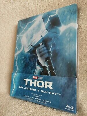 Thor Trilogy SteelBook [Blu-ray: Region Free, 3 Disc, 1/4 Slip, Embossed] New!