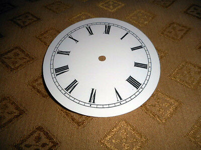 "For French/German Clocks-Paper Clock Dial-3 1/4"" M/T-GLOSS WHITE- Parts/Spares"