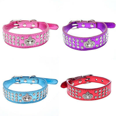 LC_ HK- Chiot Chien Animal De Compagnie Faux Collier en cuir chat Sangle BLING