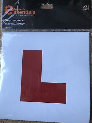Unused 3 Halfords Fully Magnetic Learner 'L' Plates