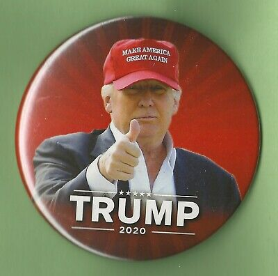 "2020 Donald Trump 3""(Large) / ""Red MAGA Hat"" Presidential Campaign Button(Pin30)"