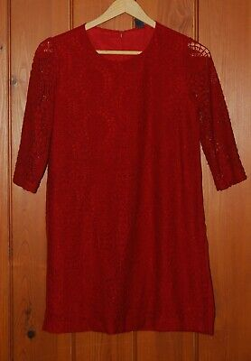 Zara, Girls, Lace, Red, Casual, Party, Dress, 11-12 years /152cm