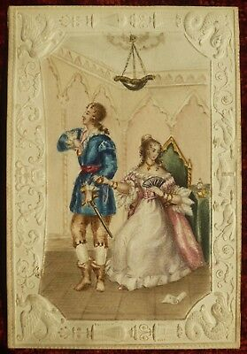 Antique miniature Regency Georgian romantic watercolour 1820s 19th Century Dobbs