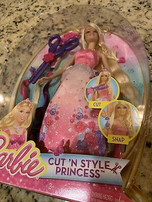 Barbie Cut /'N Style Princess Doll With Hair Accessories New