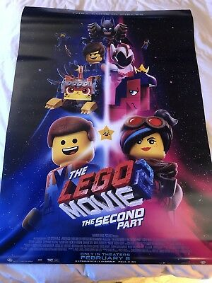 Lego Movie 2 Theatrical Poster DS 27x40 near mint Brand New Near Mint