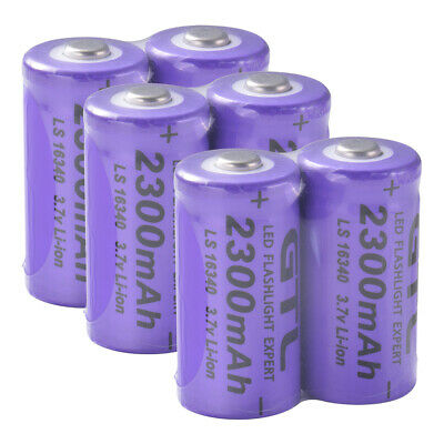 6x GTL 3.7V CR123A 16340 2300mAh Rechargeable Li-ion Lithium Battery BC918