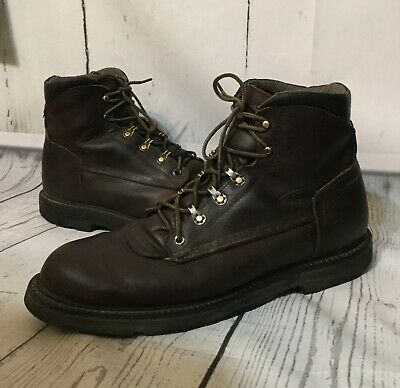 9e29d271baa RED WING 4310 Mens Leather Wedge Sole Work Boots Size 13 13D Brown ...