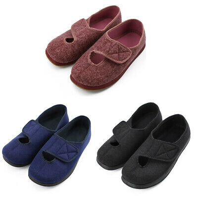Adjustable Diabetic Slippers Mens Womens Extra Wide Arthritis Edema Shoes Cozy