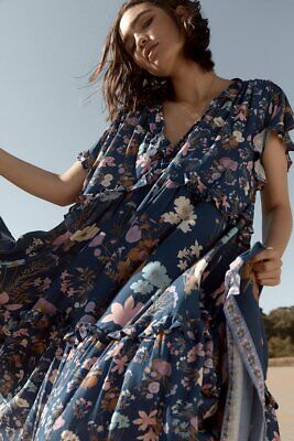 Spell And The Gypsy Wild Bloom Gown Navy S Bnwt