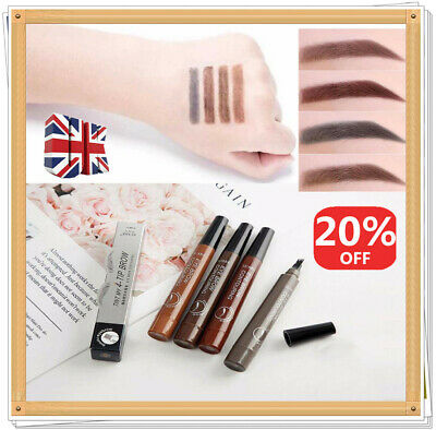 Microblading Eyebrow Pen Waterproof Fork Tip Tattoo Long Lasting Eye Brow Pencil