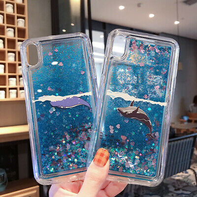Glitter Quicksand Whale Pattern Soft Case Cover For iPhone XS Max XR 8 7 6 Plus