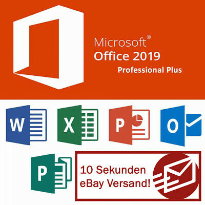 MS Microsoft Office 2019 Professional Plus Download Key Lizenz 32/64 Bit Email