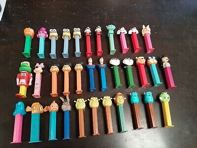 34 Pez Dispenser Bulk Lot! Disney, Shrek, Minions, Bratz, Heros etc Good Cond