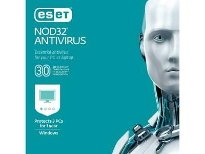 Antivirus Eset Nod 32 3 Pc - 12M - Lic. Elettronica