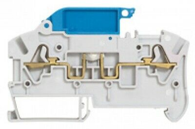 Legrand VIK-3 SPRING TERMINAL BLOCK 6mm Pitch,2-Wires Disconnect Lever GREY/BLUE