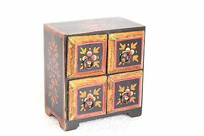 4 Drawer Chest New Antique Handmade Handicrafts Home Decor Collectible W-5