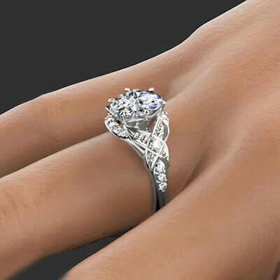 Diamond-Unique Emerald Cut Ring with Accents 9ct Gold UK Hallmarked D785