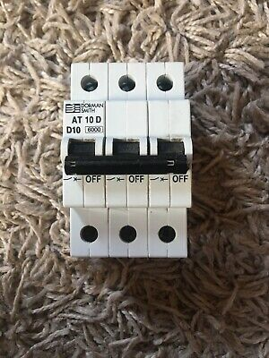 Dorman Smith 10amp Type D Three Phase Mcb Breaker