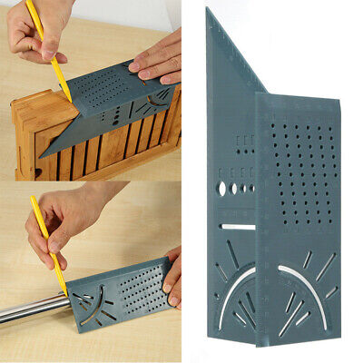 3D Mitre Angle Measuring Square Size Measure Tool With Gauge And Ruler US Seller