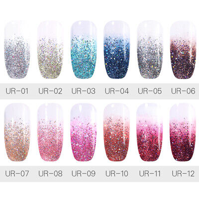 UR SUGAR 7.5ml Glitter Gel Polish Chameleon Shell Soak Off UV LED Gel Varnish
